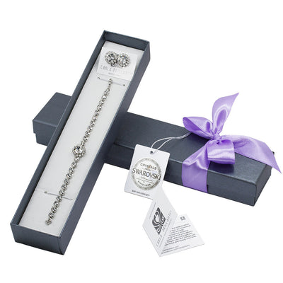 gift jewellery set with Swarovski stones Dalina
