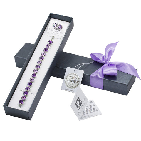 gift jewellery set with Swarovski stones Jeny