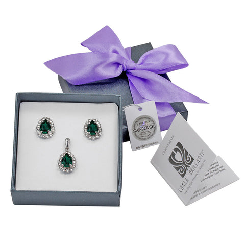 gift jewellery set with Swarovski stones Lia
