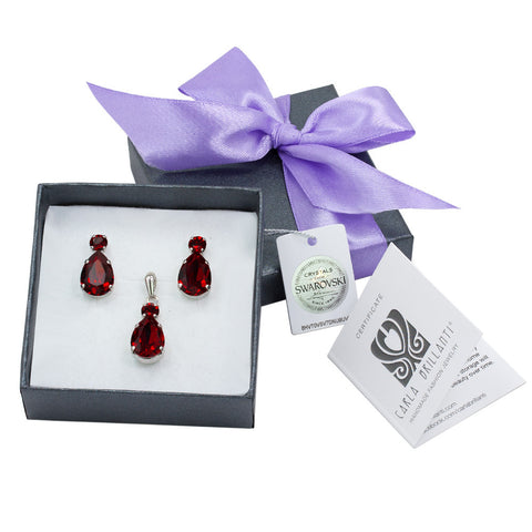 gift jewellery set with Swarovski stones Paula