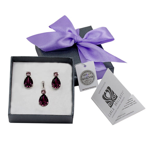 gift jewellery set with Swarovski stones Petra