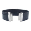 Black Lacquer Natural Leather Strap for C&B Bracelets