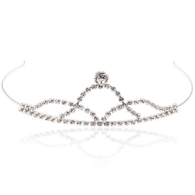 Bridal tiara with Swarovski  code 8134 Crystal white stones