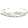 Bridal tiara with Swarovski  code 8143 Crystal white stones & Pearl