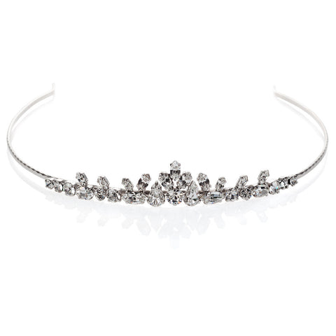 Bridal tiara with Swarovski  code 8161 Crystal white stones