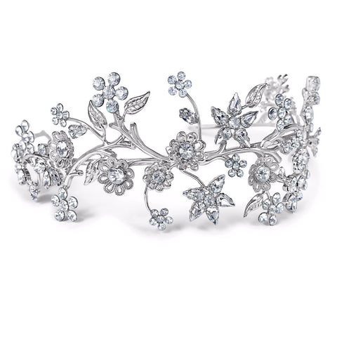 Bridal tiara with Swarovski  Primavera