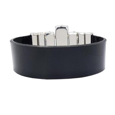 Night Image Bracelet & Black Lacquer Leather Strap