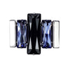 Dark & Light Men's - Black & Tanzanite Swarovski Crystal