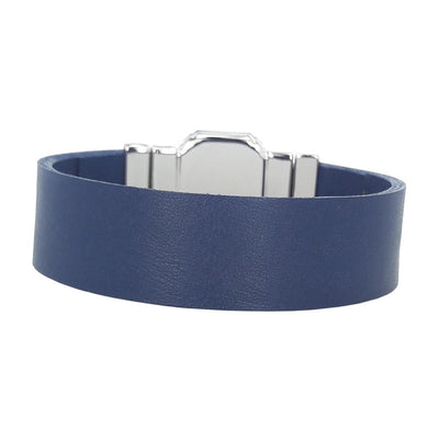 Midnight Jet Men's Bracelet & Blumarine Natural Leather Strap