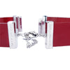 Red Lacquer Natural Leather Strap for C&B Choker