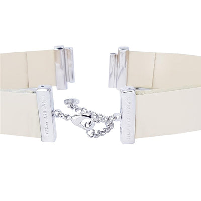 Cream Lacquer Natural Leather Strap for C&B Choker