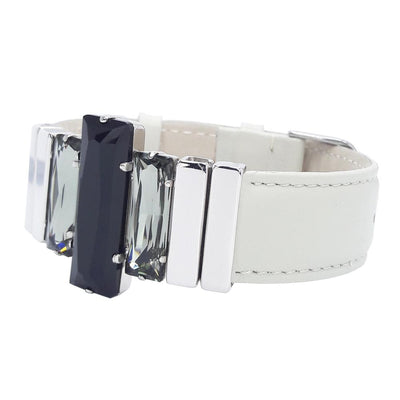 "Night Image Bracelet & ""Elegant"" Cream Natural Leather Strap"
