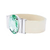 Chrysolite Dream Bracelet & Lacquer Cream Natural Leather Strap