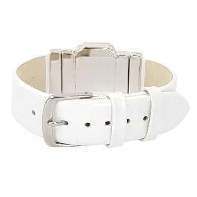 "Healing Nature Bracelet & White ""Sedef"" Natural Leather Strap"