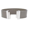 Grey Lacquer Natural Leather Strap for C&B Bracelets