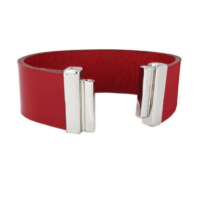 Luxurious Red Lacquer Leather Strap for C&B Bracelets