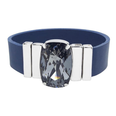 Mysterious Black Bracelet & Bluemarin Natural Leather Strap