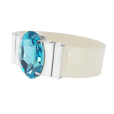 Cerulean Bracelet & Lacquer Cream Leather Strap