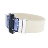Dark&Light Bracelet & Cream Lacquer Natural Leather Strap