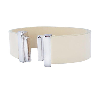 Lacquer Cream Natural Leather Strap for C&B Bracelets