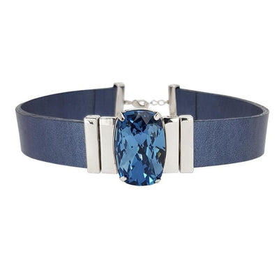 Midnight Blue Choker & Blumarine Natural Leather Strap