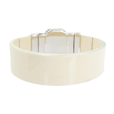 Healing Nature Bracelet & Cream Lacquer Natural Leather Strap