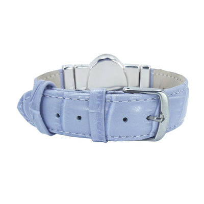 Pretty Plate Bracelet & Lavender Natural Leather Strap