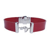 Crimson Red Choker & Red Lacquer Natural Leather Strap
