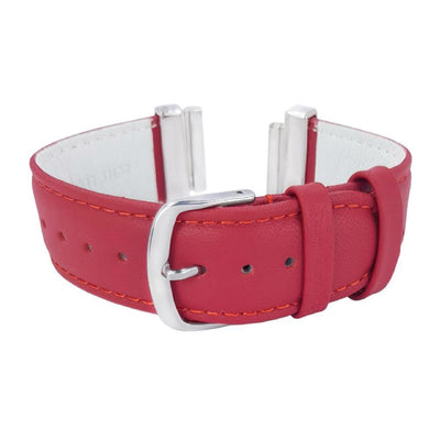 Carmine Red Natural Leather Strap for C&B Bracelets