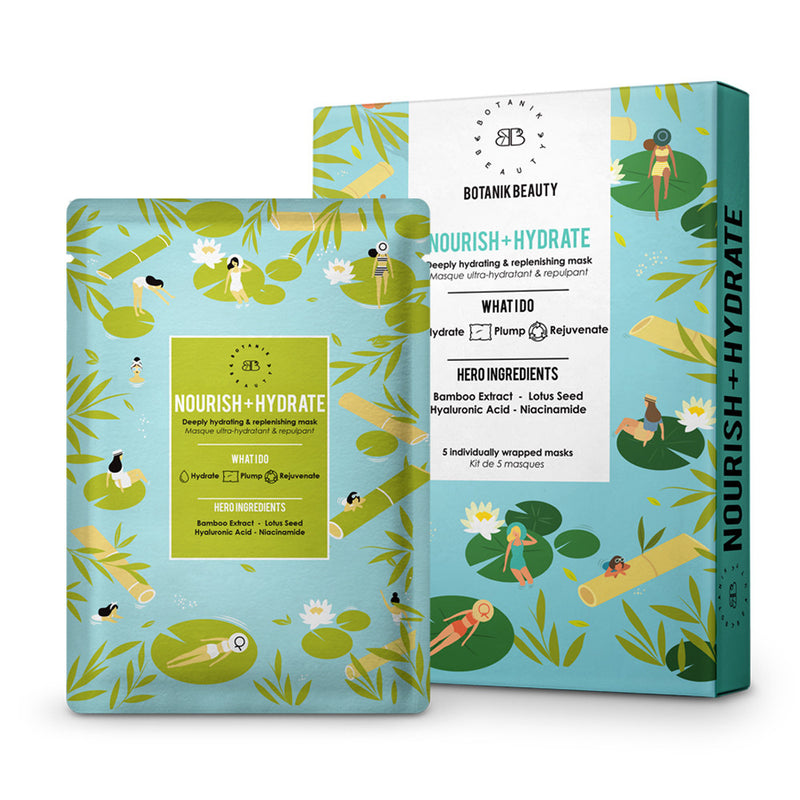 Nourish + Hydrate - Set of 5 Sheet Masks