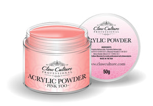 50g Pink Too Cover Acrylic Powder