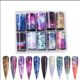 Claw Culture 'Milky Way' Nail Foil 10  piece