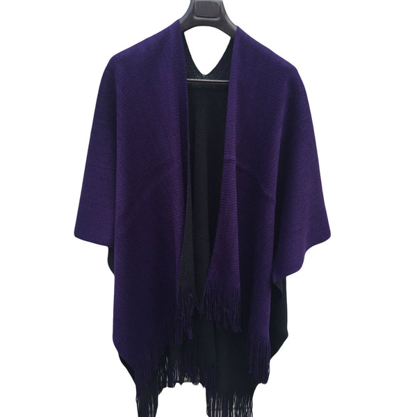 Knitted Cashmere Reversible Shawl