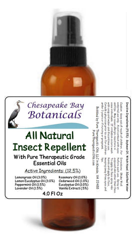 Chesapeake Bay Botanicals All Natural Insect Repellent Bug Spray