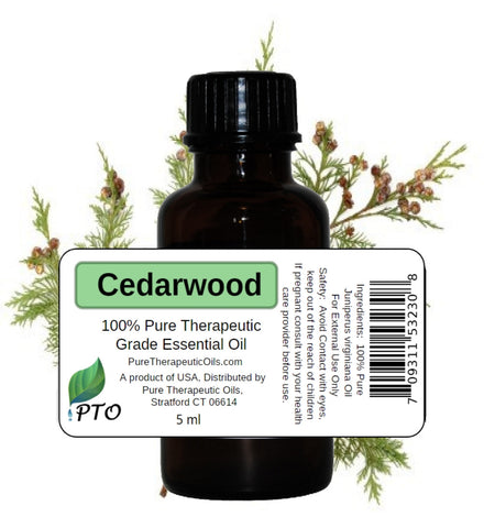 Cedar Essential Oil - Cedarwood Virginian (Juniperus virginiana) Pure Therapeutic Grade Oils