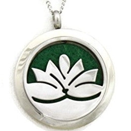 Lotus Flower Aromatherapy Necklace Locket