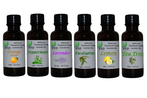 6 Bottle Set of our Top Selling Essential Oils