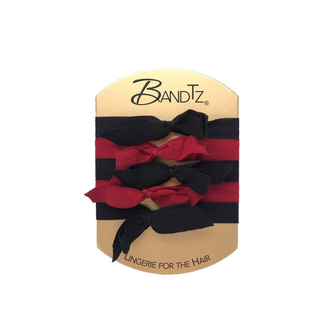 Billie Set in Red. Five Bandtz bows in red and black. No fray, no crease.