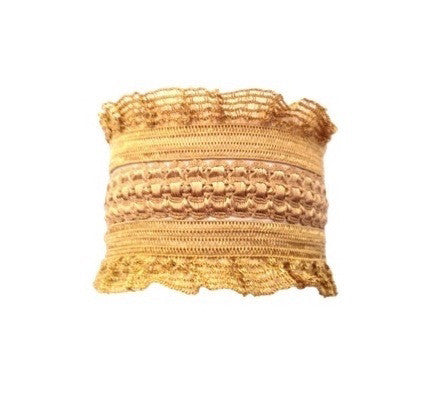 Bandtz Sage Set in Golden. Sage Set - Bandtz. Hair ties that look like jewelry. Three hair bands made from fine lingerie trim.
