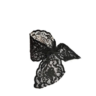 Luxe Lace Tail Band by Bandtz in Black. Hair band handmade from high end elastic lace trim.