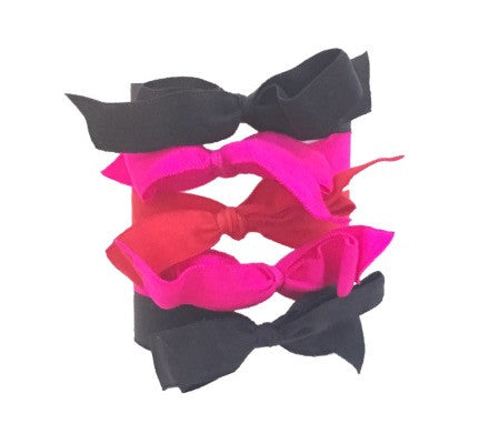 Joan Set by Bandtz. Five hair bows. Matte micro fiber hair ties. No crease, no fray. Handmade in NYC