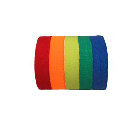 Pride Set by Bandtz. Five microfiber hair elastics in rainbow color combination.