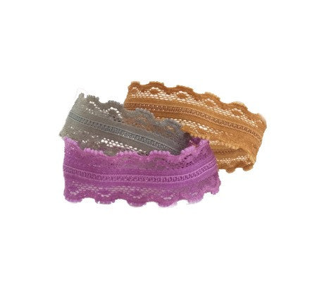 Tricot Trio Set - Bandtz. Three hair ties designed from custom colored stretch lace.