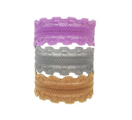 Bandtz Tricot Trio Set. Three elastic lace hair ties which double as bracelets.