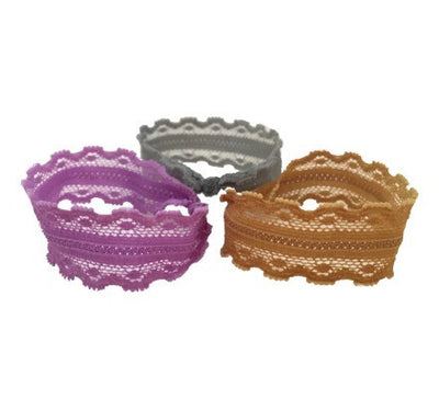 Tricot Trio Set - Bandtz. Three elastic lace hairbands