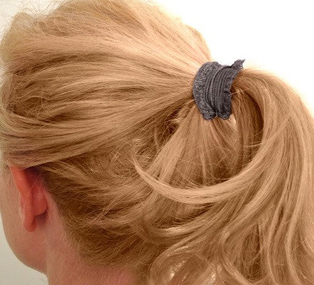 Marilyn Set of Bandtz hair ties in blonde ponytail. Fashion accessory. Beauty accessory. Elastic lace trim hair ties.