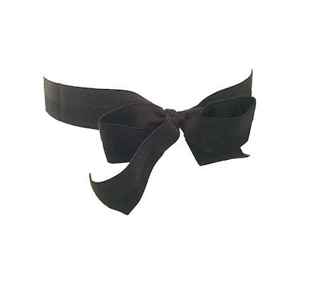 Black Satin Bow Headband - Bandtz