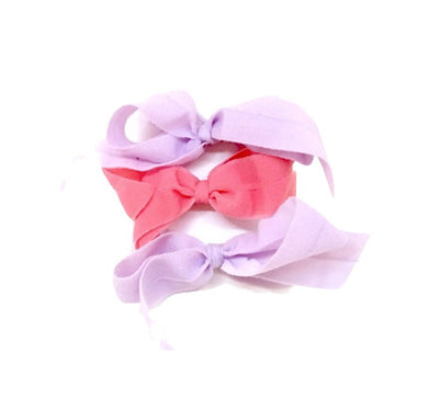 Shirley Set - Bandtz. Three matte bows handmade from elastic microfiber
