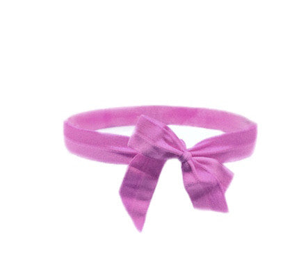 Satin Bow Headband in Violet - Bandtz