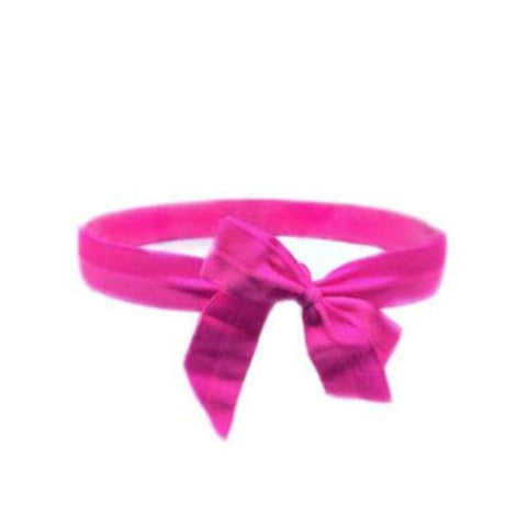 Satin Bow Headband in Magenta - Bandtz